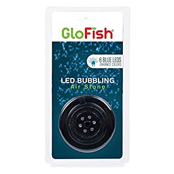 GloFish Blue LED Bubbler aquarium Lights With Air Stone For Fish Tanks  2.6-Inch x 4-Inch x 0.5-Inch Model Number  29048 1 Count  Pack of 1