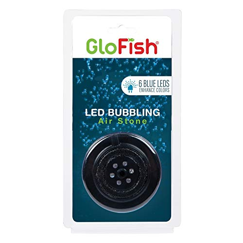 GloFish Blue LED Bubbler, aquarium Lights With Air Stone For Fish Tanks , 2.6-Inch x 4-Inch x 0.5-Inch, Model Number: 29048