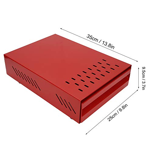 Caja de cubo de café para uso comercial con varilla, cajón de metal, contenedor de golpes, herramientas de cocina(red)