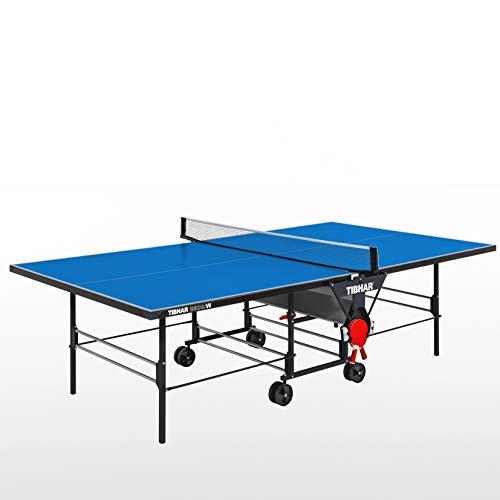 Tibhar 3600 W Designed by Sponeta | Outdoor Profi Tischtennis-Platte | wetterfeste 5mm Melaminplatte | Turnier-Maße | rollbar | klappbar | Allein-Training | 53kg