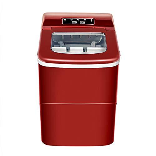 JCJ-Shop 15kg Red Ice Cube Maker Maschine 220v Eismaschine 2.2l Countertop Ice Maker Kompakte Klare EiswüRfel FüR KüChenbars