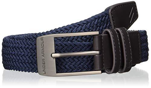 Under Armour Men'S Braided 2.0 Belt Cintura, Uomo, Blu, 30