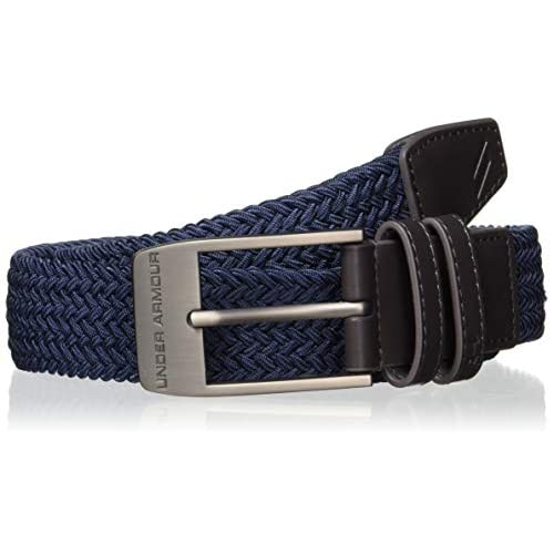 Under Armour Men'S Braided 2.0 Belt Cintura, Uomo, Blu, 36