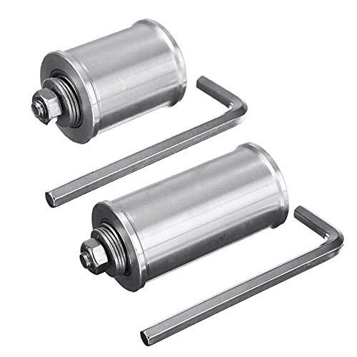 QFDM Edelstahl Riemenscheibe 30 / 50mm DIY Doppellager- Antriebsrad Bandschleifer Conveyor Leitrad mit 8mm Schaft Stange/Wrench Legierung haltbar (Width : 50mm)