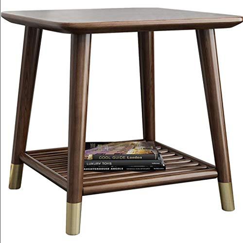 XinQing Mesa de café Mesa de Centro Cuadrada Luz Salón de Lujo Muebles de Nogal Madera de Fresno Nordic Side Cabinet