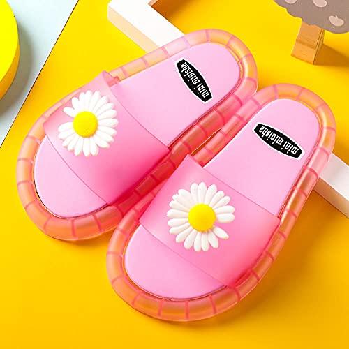 Zuecos Sanitarios Mujer,Zapatos Luminosos para NiñAs, Verano Nuevos NiñOs Daisy Flashing Sandals Y Zapatillas, NiñOs Y NiñOs con Caras Sonrientes En Zapatillas De BañO De Playa-Largo (17 Cm / 6.7')_