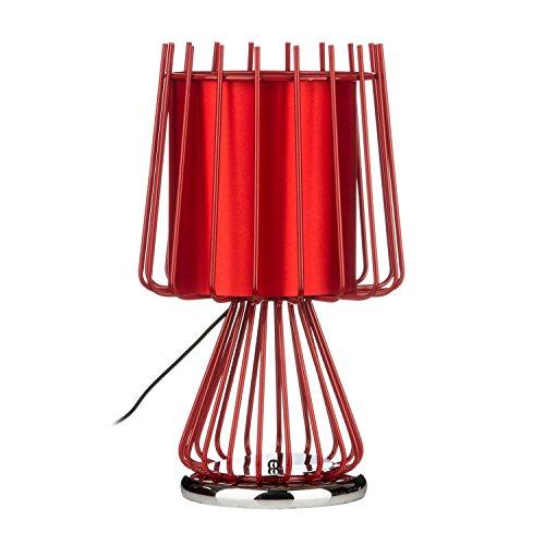 Premier PREM-2501757 tafellamp, keramiek, rood