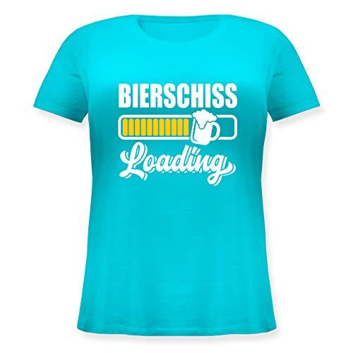 Karneval & Fasching - Bierschiss Loading - 46 Große Größen - Hellblau - Geschenk - JHK601 - Lockeres Damen-Shirt in großen Größen mit Rundhalsausschnitt