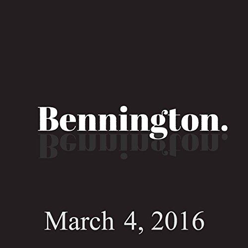 Bennington, March 4, 2016 audiobook cover art