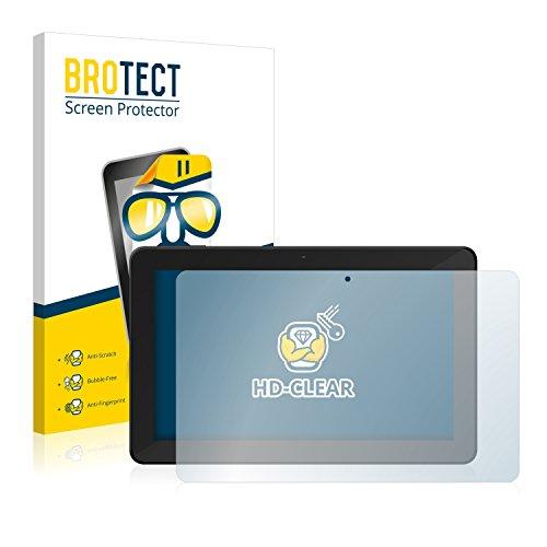 BROTECT Schutzfolie kompatibel mit TrekStor SurfTab xintron i 10.1 3G (2 Stück) klare Bildschirmschutz-Folie