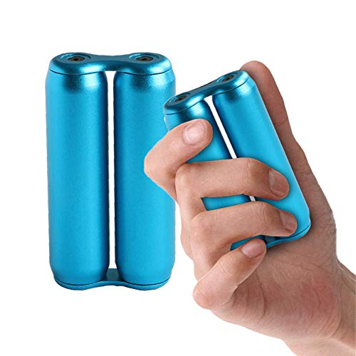 MQUPIN Decompression Palm Roller, Roller One-Handed Operation Fidget Toy for Adults/Rolling Wheel in Hands Relieve Stress,Anxiety,Tension/Compact&Portable Design/Low Noise (blue)