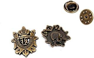 WEHONG 2 Pezzi novità Metallo Spilla da Uomo Vestito Decorazione Scudo Spilla Corona Spille Distintivo Vintage Gioielli di...