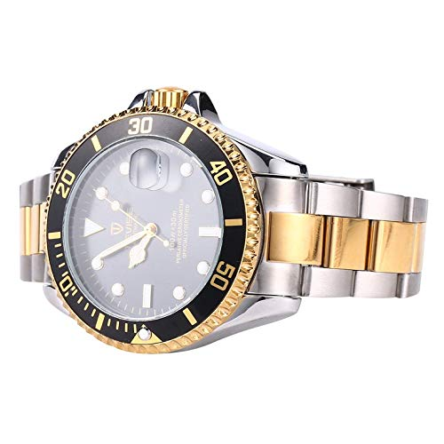 TEVISE T801 Men Mechanical Watch Fashion Luminous Watch,Gold & Silver