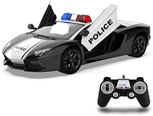 Vibret 1:14 Remote Control Police Vehicle 2.4Ghz Radio RC Great Toys Cars Model Electric Toy Drifting Vehicle Car Police With Lights And Siren Sound For Boy Girls Birthday Hobby Toy For Kids Gift