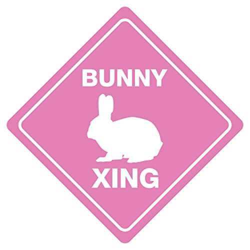 Bunny Crossing Funny Novelty Sign