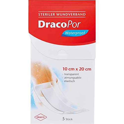 DRACOPOR waterproof Wundverband 10x20 cm steril, 80 g