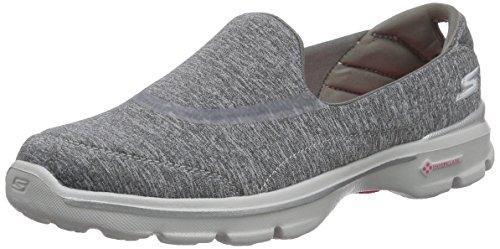 Skechers GO Walk 3Balance, Zapatillas Mujer, Grau Gry, 36 EU
