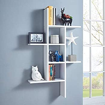 Onlinecraft Beautiful Big Wall Shelf Wall Rack Wall Shelves For Home Decor Living Room Decor Office Decor Wall Decor White Amazon In Electronics