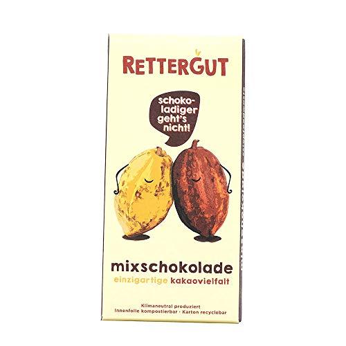 RETTERGUT 10er-Pack Retterbox mixschokolade Tafel (10x80g) I gerettete Schokolade aus verschiedenen Kakao-Sorten I Kakaogehalt: mind. 48{db0e6c10ddad50c3d40a458201d7abac9fe7467f125a4ff208a424a00c0c6d29} I umweltfreundliche Produktion: CO2-neutral & ECO-Verpackung