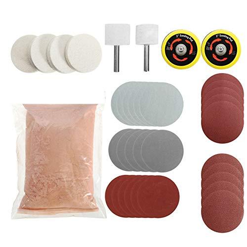 ZQDL - Kit de limpieza para cristales de coche, 34 unidades, óxido de cerio, disco de lijado en polvo