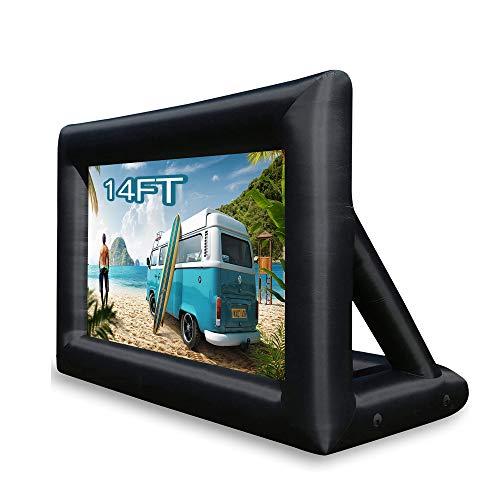 Schermo gonfiabile per proiettore cinematografico per uso esterno   interno, schermo per proiettore gonfiabile portatile per grandi feste, proiezione anteriore e posteriore, facile da installare