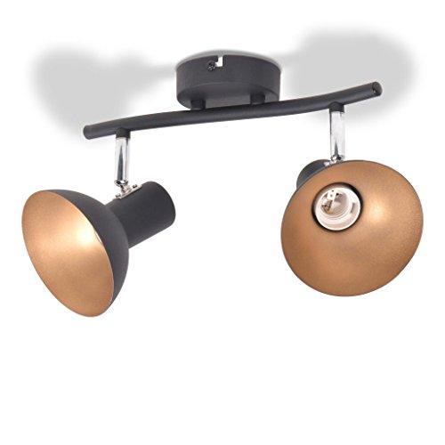 vidaXL Deckenlampe 2 Glühbirnen Deckenleuchte Deckenstrahler Spot Wohnzimmer