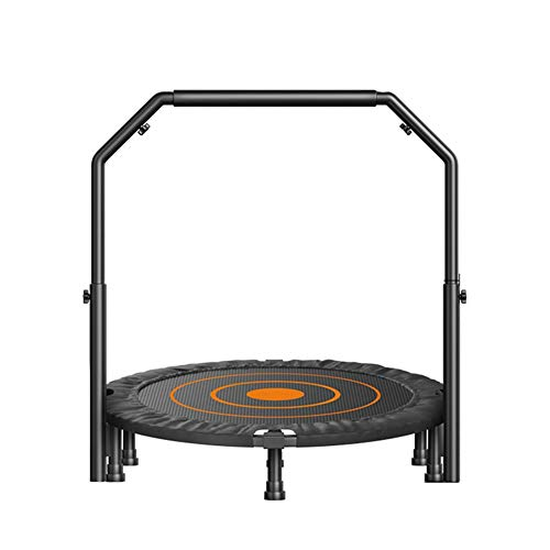 TRAMPOLINE AGYH 40in Foldable Jumper, Aerobic Exercise Trainer With Adjustable Armrests, Suitable For Indoor Courtyard Garden Gymnasium For Men, Women And Children