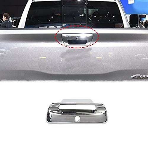 Chrome Car Rear Trunk Door Handle Cover Trim for Dodge Ram 1500 2019-2021