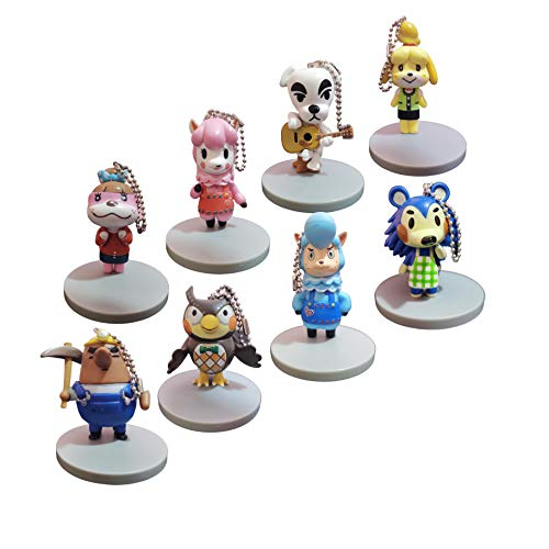 Juego llaveros Animal Crossing Un Juego de 8 llaveros, nuevos Accesorios para bebés, Hui Jingjiang Animal Crossing Friends Club Game, Animal Crossing, XI Shi, Beanie Cake Colgante