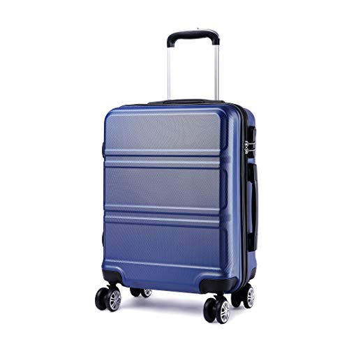 Kono Large 28 Inch Luggage Lightweight ABS Hard Shell Trolley Travel Case with 4 Spinner Wheels Fashion Suitcase (28', Navy)
