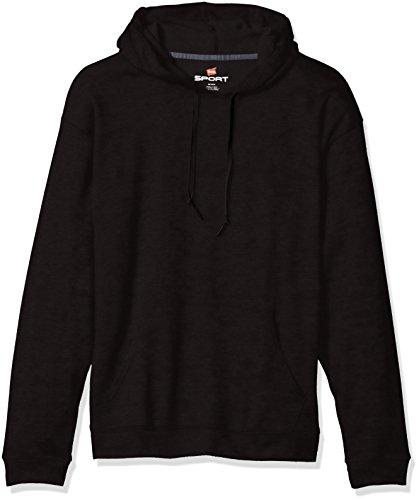Hanes Men's Sport Performance Fleece Pullover Hoodie, Black, XL