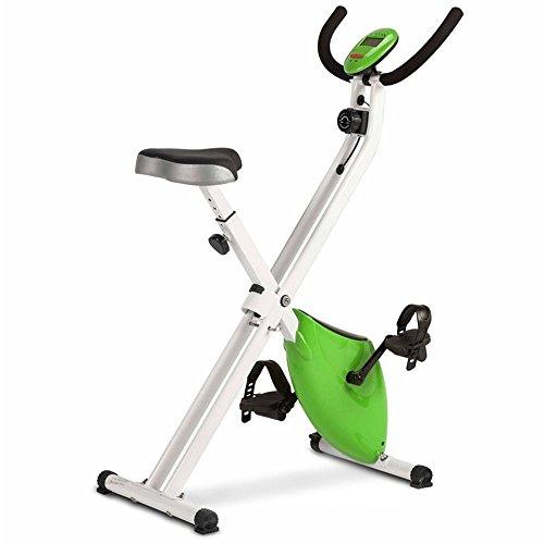 Bicicleta Estática Plegable Magnética, con Pulsómetro y Pantalla LCD, Resistencia Variable y Pedales de Máximo Agarre
