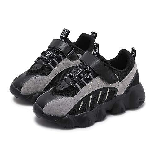 Zapatillas de deporte para niños y niñas, color negro, ligeras, cómodas., color Negro, talla 27 EU