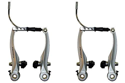 Promax Fahrrad Bremskörper V-Brake Bremsen Set Aluminium Silber