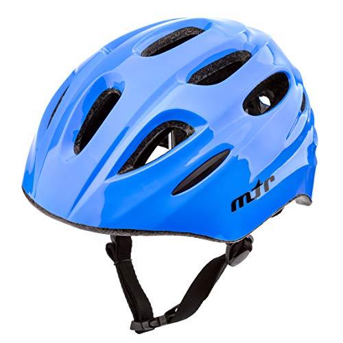 meteor Casco Bici ideale per bambini Caschi perfetto per Downhill Enduro Ciclismo MTB Scooter Helmet Ideale per Tutte Le Forme di attività in Bicicletta Helmo KS01 (XS 44-48 cm, MTR blue)