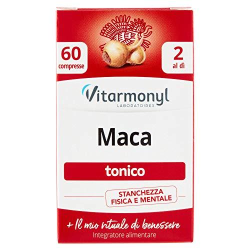 Vitarmonyl MACA ● Integratore 60 compresse ● Tonico, stanchezza fisica e mentale ● Registrato Ministero Salute Italiano