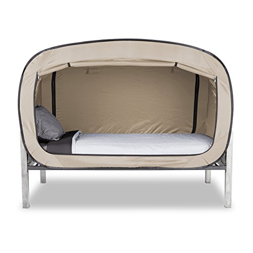 Privacy Pop Bed Tent (Full) - Tan