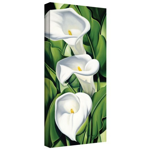 Art Wall 'Lilies, 2002' Gallery-Wrapped Canvas Art by Catherine Abel, 36 by 18-Inch by Art Wall