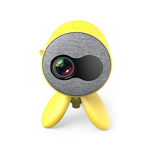 TYM Mini projecteur Portable, projecteur vidéo à LED, Fonction intégrée de Connexion sans Fil avec téléphone Mobile, Haute définition 1080p, utilisé pour la Maison de Home cinéma, Jeu