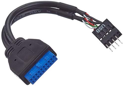InLine 33446I USB 3.0 zu 2.0 Adapterkabel intern, USB 3.0 auf USB 2.0 Pfostenanschluss, 0,15m