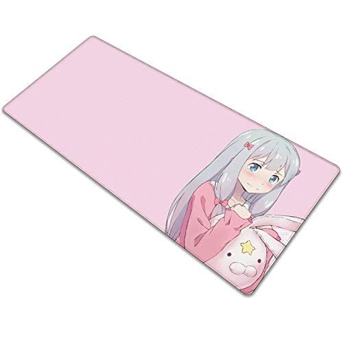 Mauspad Gaming HD Muster 700x300x3mm Laptop Maus Matte Anime Pink & shy girl Mauspad Große mousepad PC schreibtisch XXL Mauspad Büro Schreibtischunterlage