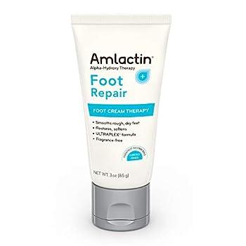 AmLactin Foot Repair Foot Cream Therapy 3 Ounce Tube AHA Cream