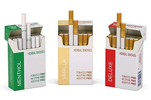 HONEYROSE 3 Packs Sampler Herbal Sticks, Menthol -Deluxe - Vanilla, Tobacco & Nicotine Free