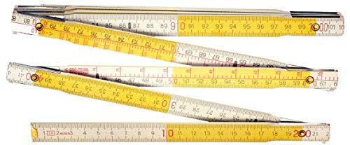 Connex Gliedermaßstab Holz - 2 Meter Länge - Metrische Skala - Elastisch & Stabil - Markante Doppelskalierung - Für Haus, Hobby & Werkstatt / Zollstock / Meterstab / Messwerkzeug / COXT700302