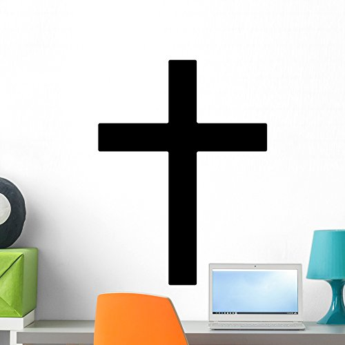 Wallmonkeys Christian Cross Symbol Christianity Wall Decal Peel and Stick Vinyl Graphic (24 in H x 24 in W) WM368935