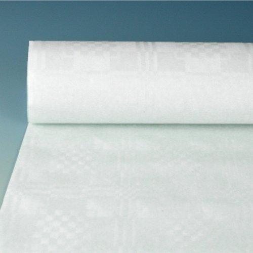 100 m x 1,2 m Tischtuch Weiss Papier Tischdecke Tischläufer Damastprägung