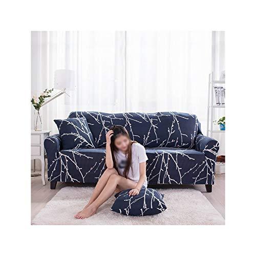 HGblossom Geometrische Moderne Sofabezug elastische Polyester Floral Sofa Handtuch 1/2/3/4 Sitzer Schonbezug für Wohnzimmer Farbe 6 Single-Seat 90-140Cm