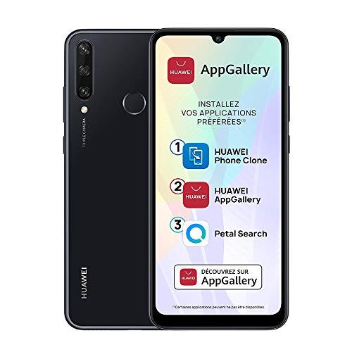 HUAWEI Y6p Smartphone débloqué (6.3 pouces 3/64go - Triple Caméra avec Capteur Principal de 13MP - Batterie de 5000mAh & AppGallery) Noir [+ bon d'achat Amazon 5 euros]