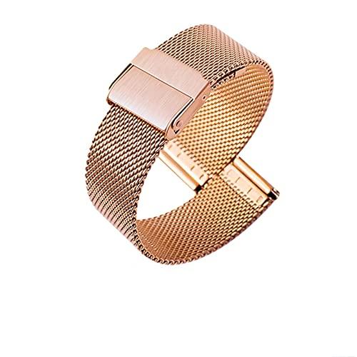 LLKHFA Para DW Ver la Correa de Malla de la Banda de Acero para Daniel Wellington Banda de Reloj Metal Pulsera de Acero Inoxidable Universal Ultrafino 10-22 mm