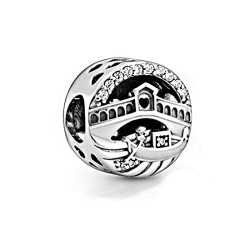 Diy Fits For Original Pandora Bracelets 925 Sterling Silver Travel Exclusives Color Venice Rialto Bridge Openwork Charms Beads Fit Women Jewelry Christmas Gift